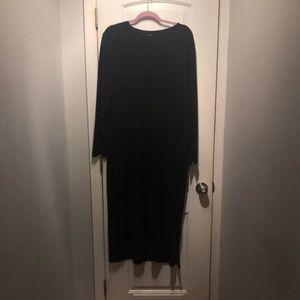 H&M Plus Black Midi Dress